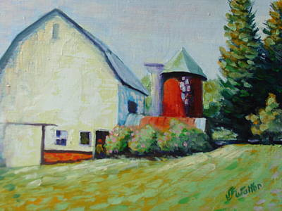 Painting - Spring Barn by Judy Fischer Walton