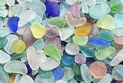 Photograph - Spring Beach Glass Collection II by Barbara McMahon