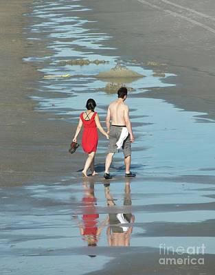 Photograph - Spring Beach Walk  by Christy Ricafrente