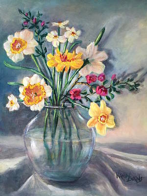 Painting - Spring Beauties In A Glass Vessel by Randol Burns