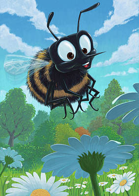 Flower Child Digital Art - Spring Bee by Martin Davey