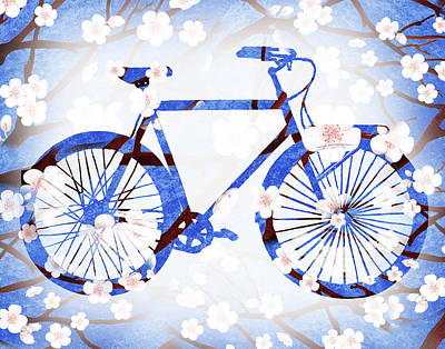 Painting - Spring Bicycle  by Irina Sztukowski