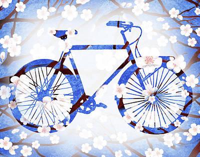 Painting - Spring Bicycle  by Irina Sztukowski