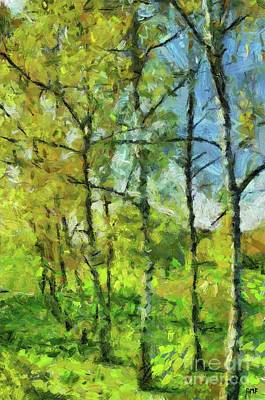 Painting - Spring Birches by Dragica Micki Fortuna