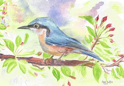 Spring Bird  Art Print by Isabel Proffit