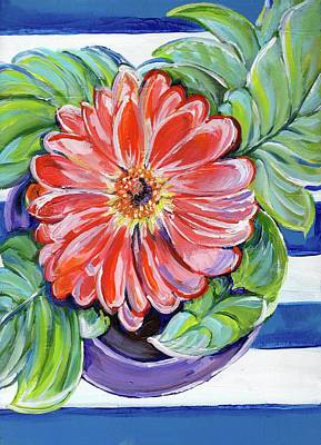 Table Cloth Painting - Spring Bloom by Anne Seay