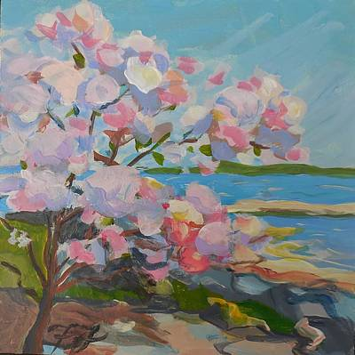 Painting - Spring Blooms By Sea by Francine Frank