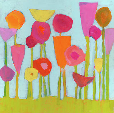 Spring Blooms Art Print by Laurie Breen