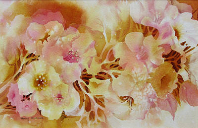 Spring-blooms Art Print by Nancy Newman