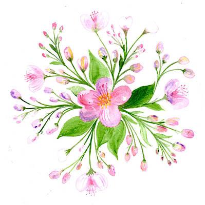 Painting - Spring Blossom Botanical Mandala by Louise Gale