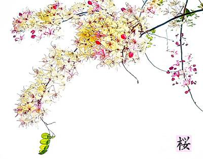 Digital Art - Spring Blossom by Ian Gledhill