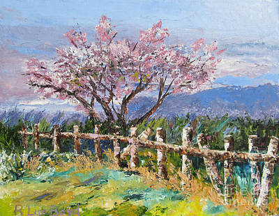 Painting - Spring Blossom Pallet Knife Painting by Lisa Boyd