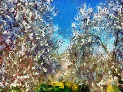Painting - Spring Blossom by Taiche Acrylic Art