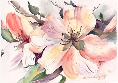 Pear Tree Mixed Media - Spring Blossoms by Barbara Jung