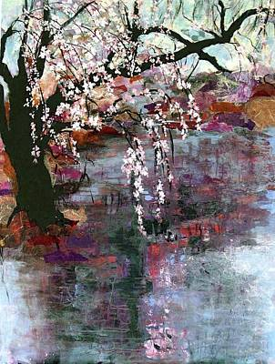 Rice Paper Painting - Spring Blossoms by Ethel Vrana