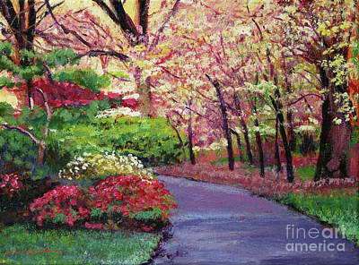 Azaleas Painting - Spring Blossoms Impressions by David Lloyd Glover