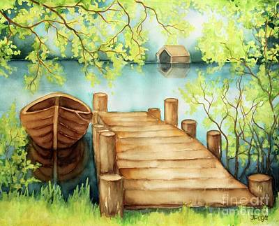 Painting - Spring Boat by Inese Poga