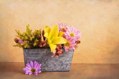 Flower Planter Photograph - Spring Bounty by Tom Mc Nemar