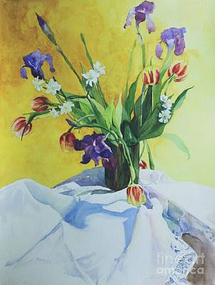 Spring Bouquet Art Print by Elizabeth Carr