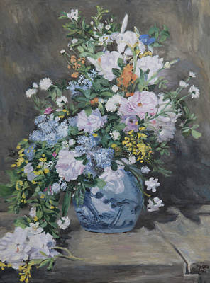 Painting - Spring Bouquet Homage To Renoir by Masami IIDA