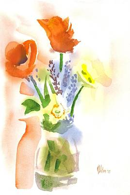 Interior Still Life Painting - Spring Bouquet II by Kip DeVore