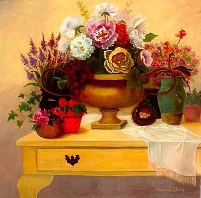 Spring Bouquet Art Print by Jeanene Stein