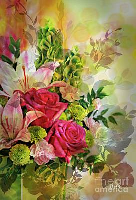Digital Art - Spring Bouquet by Maria Urso