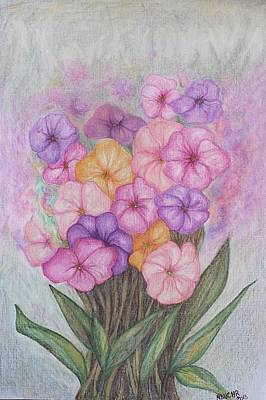 Mixed Media - Spring Bouquet  by Norma Duch