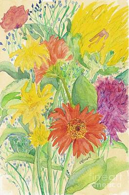 Art Print featuring the painting Spring Bouquet  by Vicki  Housel