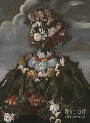Painting - Spring By Giuseppe Arcimboldo by Giuseppe Arcimboldo