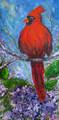 Painting - Spring Cardinal by Sandra Reeves