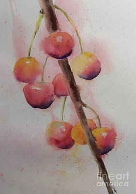 Painting - Spring Cherries by Barbara Tibbets