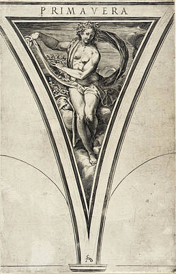 Drawing - Spring by Cherubino Alberti