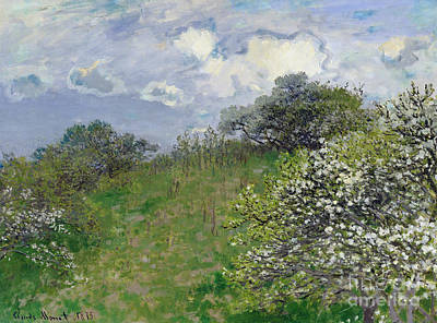 Signed Painting - Spring by Claude Monet