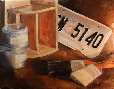 Art Print featuring the painting Spring Cleaning by Rachel Hames