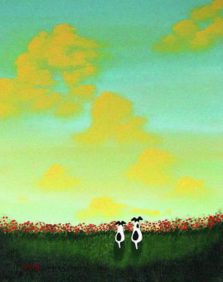 Spring Clouds Art Print