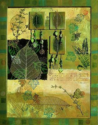 Earth Day Painting - Spring Collage by Ernestine Grindal