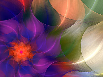 Digital Art - Spring Colors by Barbara A Lane