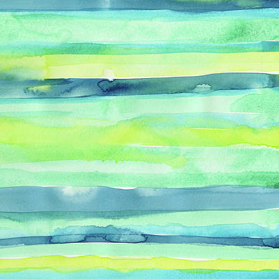 Painting - Spring Colors Pattern Horizontal Stripes by Olga Shvartsur