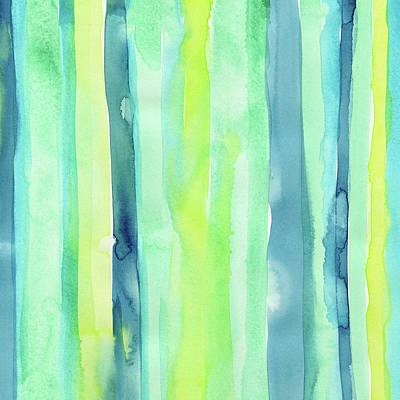 Painting - Spring Colors Stripes Pattern Vertical by Olga Shvartsur