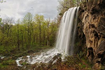 Photograph - Spring Comes To Falling Springs Falls by Chris Berrier