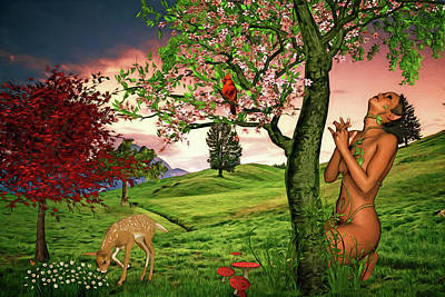 Digital Art - Spring Comes To Plantatia by John Haldane