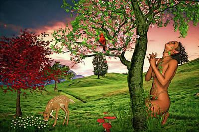 Digital Art - Spring Comes To Plantatia by John Haldane
