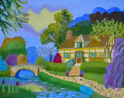 Painting - Spring Cottage by Magdalena Frohnsdorff