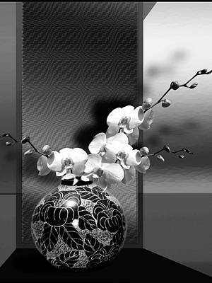 Gina Femrite Wall Art - Painting - Spring Creation In Black And White by Regina Femrite