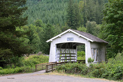 Rustic Photograph - Spring Creek Covered Bridge Chiloquin Oregon by Barbara Snyder