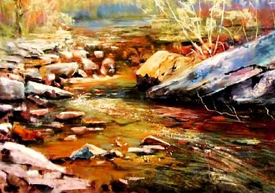 Painting - Spring Creek Glow by Joseph Barani