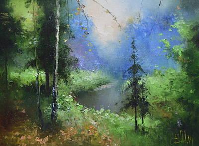 Painting - Spring Creek by Igor Medvedev