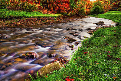 Photograph - Spring Creek In Autumn by David A Lane