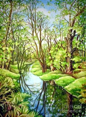 Painting - Spring Creek by Inese Poga